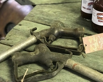 Two Vintage OPW Gas Pump Nozzles