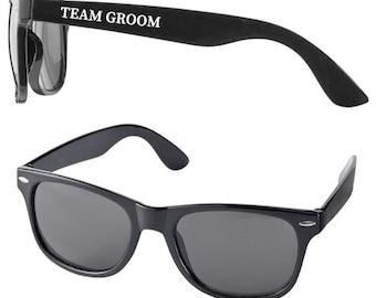 Personalised TEAM GROOM Wedding Sunglasses Favours