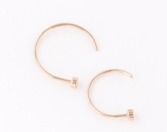 Rose Gold Nose Ring, Rose Gold Hoop, Rose Gold Piercings, Nose Jewelry, Body Kandie, Nose Piercing, Nose Ring, Nose Hoops, 22g 20g 18g