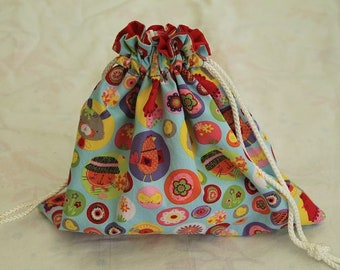 Bag fabric special Easter - DrawString bag pouch