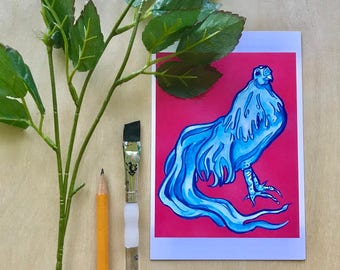 Water Chicken- Small Fine Art Print
