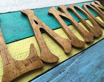 Distressed LETTERS for nursery