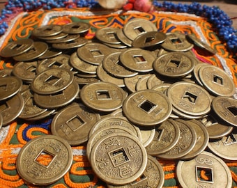 Chinese Coins Set Of 100,Feng Shui ,I-ching Coins, Fortune Coin