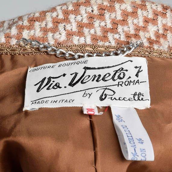 Veneto Vintage Jacket Suit Via Wool Matching Outfit Skirt 70s Set Separates Medium 1970s Tweed Skirt nAx1qOE8