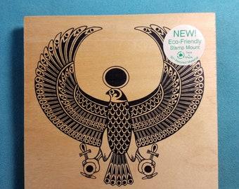 Judi Kins - Egyptian Falcon - Large Rubber Stamp
