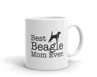 Funny Beagle Gift, Best Beagle Mom Ever Dog Lovers Gift Coffee Mug, Beagle Gift for Beagle lover, gift for beagle owner, Beagle Mug