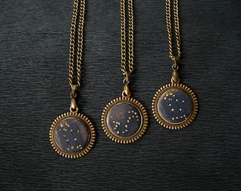 Personalized birthday gift Personalized jewelry for mom Personalized necklace for women Zodiac jewelry Constellation jewelry Space lovers