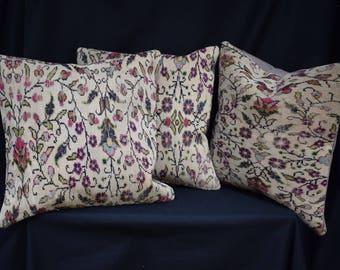 3 Pieces Set rug pilow cover anatolian rug pillow Sofa pillow cover Bohamian pillow cover Bed pillow cover Couch pillow cover AG-1-3