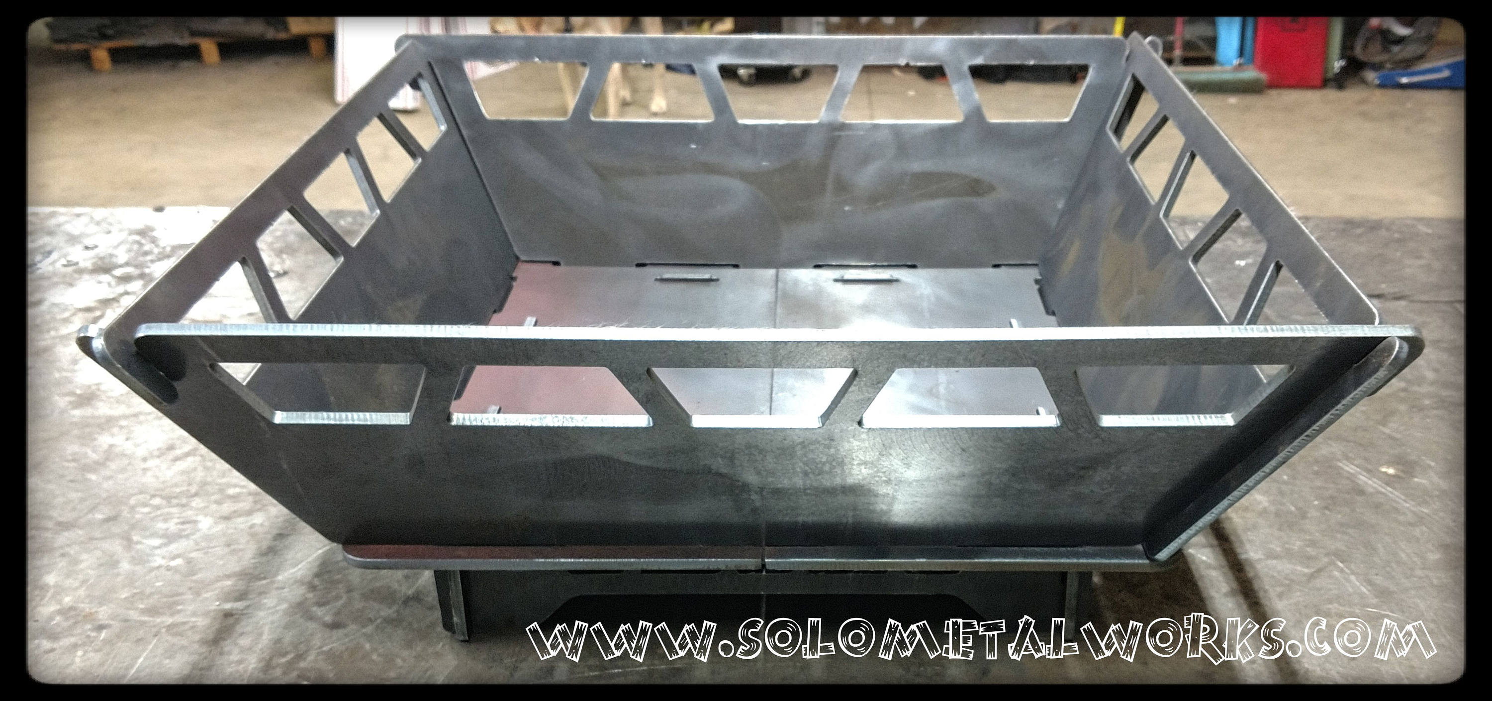 22x22 modular fire pit 25 steel plate no for Prefab fire pits