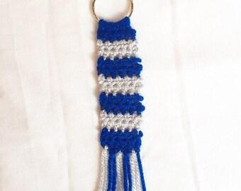 Handmade Crochet Harry Potter Knitted Ravenclaw Keyring