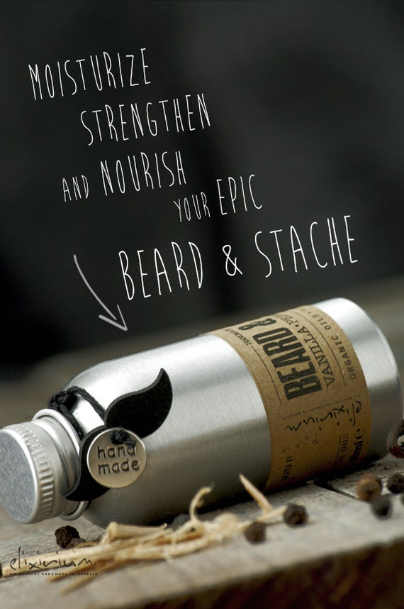 BEARD & STACHE OIL Vanilla Pepper Sandalwood~Organic Beard oil~Mustache oil~facial hair oil~beard nourishing~beard moisturizer~for him