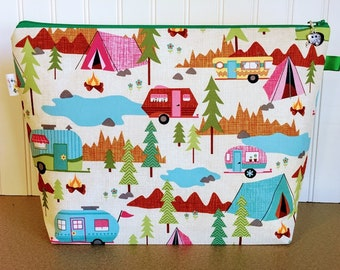Campers Knitting Project Bag - Large / Sweater Size