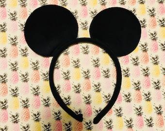 Mickey Mouse inspired Black Plain Headband Ears