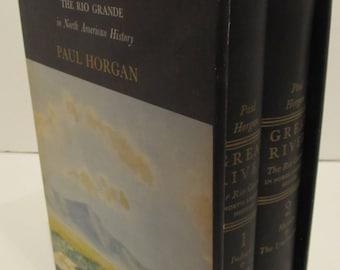 Great River - Paul Horgan - 2 Volume First Edition 1954 Rhinehart & Company Inc.