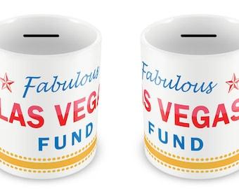 LAS VEGAS FUND Holiday Money Box - Piggy Bank Savings Travelling Gift Idea