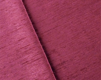 Red Magenta Empress Chenille Strie Velvet Decorating Fabric, Fabric By The Yard