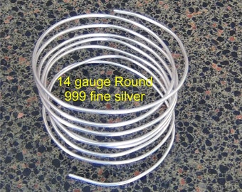 1  OZ .999 Fine silver 14 gauge Round dead soft 4 feet 6 inches 28 + grams pure