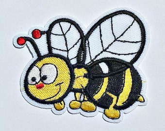 Embroidered Bumble Bee Patch - Iron on Applique - Sew on Patch - Patch - #PS0060