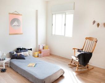 Big Peach Pink Clouds Kids Poster / Kids Decor / Pastel Children Poster / Clouds Print / Minimalist Home / Clouds Wall Art / Girls Room