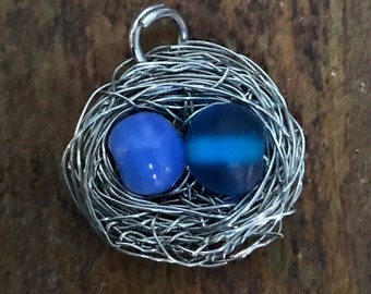 Nest and Egg pendant on necklace