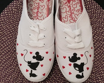 Hand Painted Silhouette Character Canvas Shoes