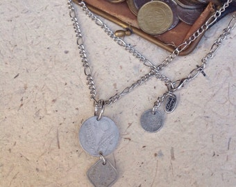 Necklace old coin