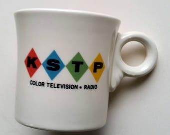 Vintage 1960s Ad Mug KSTP Color Television Radio Broadcasting Minneapolis Fiestaware