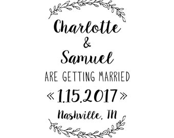 Lovely Laurel Save the Date Stamp