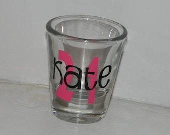 21st Birthday Shot Glass Personalized Gift
