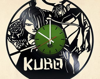 Kubo and The Two Strings Vinyl Record Wall Clock