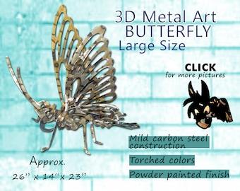 LARGE Metal Art Butterfly, Steel Art Butterfly, Garden Art Butterfly by Brown-Donkey Designs