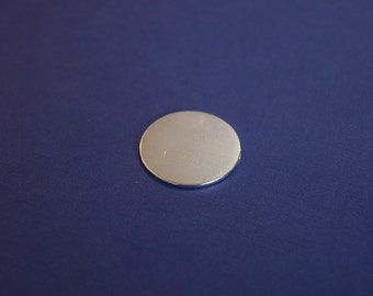 "25 Polished Aluminum 1"" Disc Circle Blanks - Metal Stamping Blanks - 16G Aluminum - Round Blank"