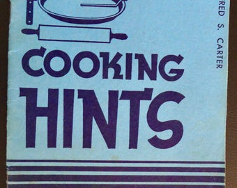 "Cooking Hints and Tested Recipes, Vintage 1937 Book from Proctor & Gamble to Promote ""The New Crisco"""