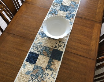Quilted Table Runner, Handmade, Modern Quilt Table Topper