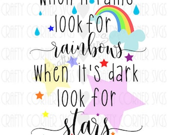 Rainbow SVG-star svg-cute saying-kids decor-cute svg-baby-qoute-inspire-Cricut-Silhouette-Scrapbooking-Cut Design-printable-iron on-tshirt