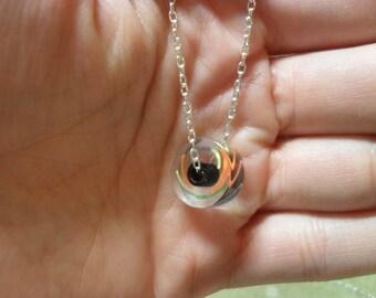 Rockin' black and bright multi-colored geometric necklace