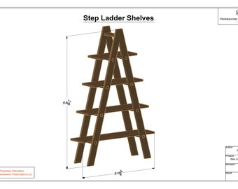 Step Ladder Shelf System Drawing Sheets