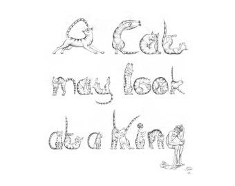 Art print - 'A Cat may look at a King'