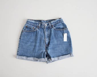 cut off Levis shorts | high waist denim shorts | cut of jean shorts