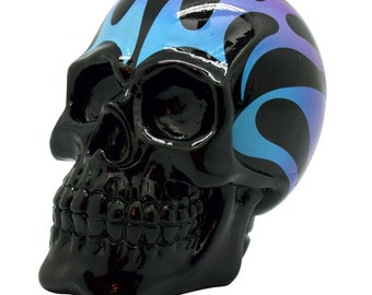 Blue flame skull bank