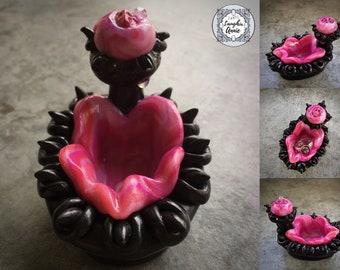 Midnight Rose Vagina Dentata Ring Holder | Made in Melbourne | Australian Seller
