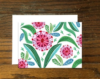 Folky Floral Notecard