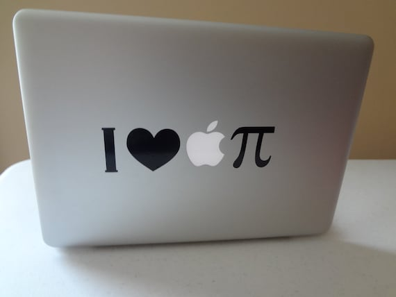 I Love Apple Pie Math Symbol Decal Macbook Pro 13 Inch Pc