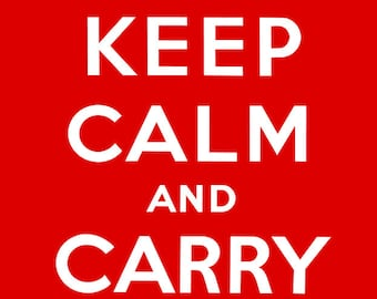 Keep Calm And Carry On Poster - Original Poster Restoration