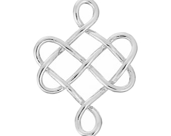 x 1 spacer connector Celtic knot medieval silverplate.