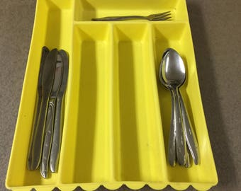 Scalloped Flatware Tray by Blisscraft of Hollywood