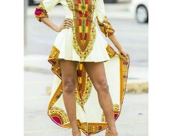 Dashiki dress, dashiki high low dress, dashiki maxi dress, dashiki wedding dress, dashiki prom dress