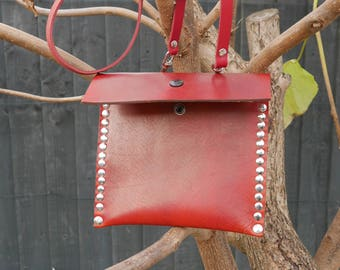 Reclaimed Saddle Leather Cross the body Bag