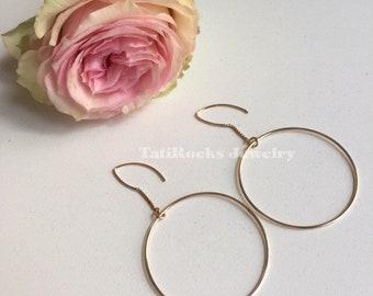 Timeless Threader Hoop Earrings, Gold Hoop Earrings, Drop Earrings