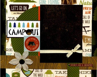 Campout - 12x12 Premade Scrapbook Page